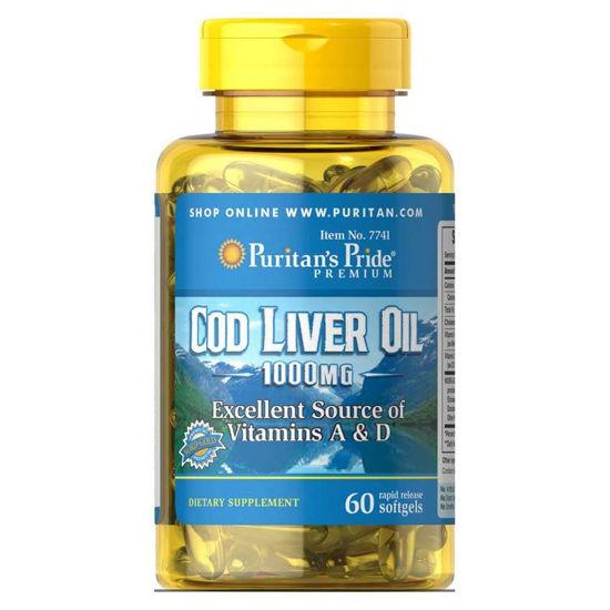 Puritan's Pride olje iz jeter polenovk 415 mg, 100 kapsul