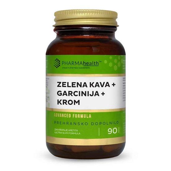 PharmaHealth zelena kava + garcinija + krom, 90 kapsul