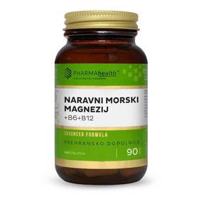 Slika PharmaHealth naravni morski magnezij + B6 + B12, 90 kapsul
