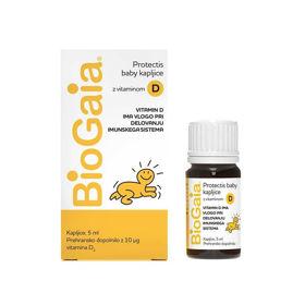 Slika BioGaia ProTectis Baby kapljice z vitaminom D3, 5 mL (EWOPHARMA GROUP)