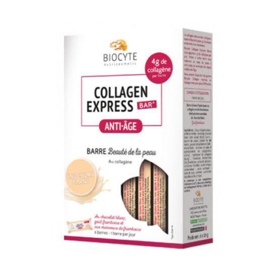 Biocyte Kolagen Express anti-age čokoladna ploščica – bela čokolada, 6 x 25 g