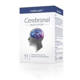 Slika Cerebronal Medicinalis za normalno delovanje možganov, 45 kapsul