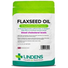 Slika Lindens laneno olje 1000 mg, 90 kapsul