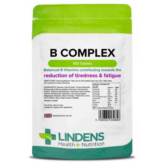 Lindens Vitamin B Complex, 100 tablet