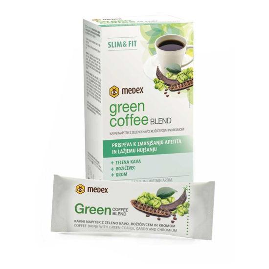 Medex Green Coffee Blend Slim & Fit kavni napitek, 10 vrečk po 6 g