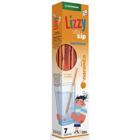 Slika Lizzy Vita Sip Kids multivitamini z okusom pomaranče, 7 slamic z vsebino