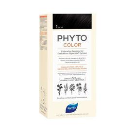 Slika Phytocolor 1 črna barva za lase, 50 + 50 + 12 mL