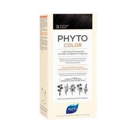 Slika Phytocolor 3 temno rjava barva za lase, 50 + 50 + 12 mL