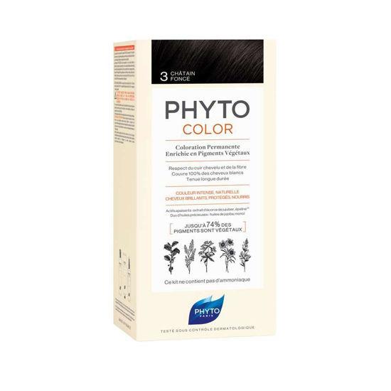 Phytocolor 3 temno rjava barva za lase, 50 + 50 + 12 mL