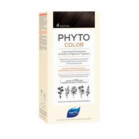 Slika Phytocolor 4 rjava barva za lase, 50 + 50 + 12 mL