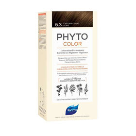 Slika Phytocolor 5.3 svetlo zlato rjava barva za lase, 50 + 50 + 12 mL