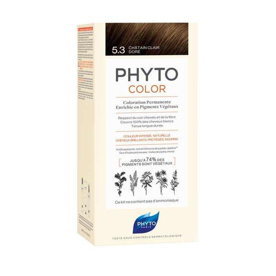 Phytocolor 5.3 svetlo zlato rjava barva za lase, 50 + 50 + 12 mL