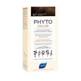 Slika Phytocolor 6.7 temno kostanjeva blond barva za lase, 50 + 50 + 12 mL