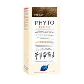 Slika Phytocolor 7.3 zlata blond barva za lase, 50 + 50 + 12 mL
