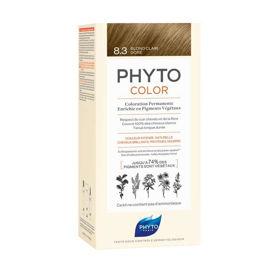 Slika Phytocolor 8.3 svetlo zlato blond barva za lase, 50 + 50 + 12 mL