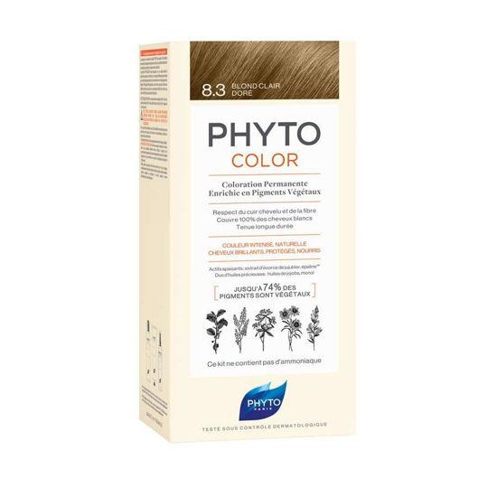 Phytocolor 8.3 svetlo zlato blond barva za lase, 50 + 50 + 12 mL