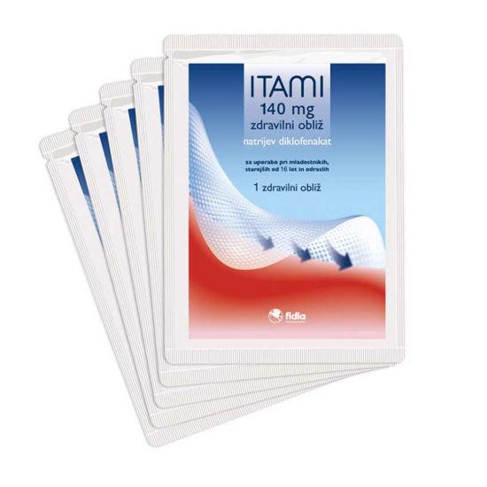 Itami 140 mg zdravilni obliž, 5 ali 10 obližev