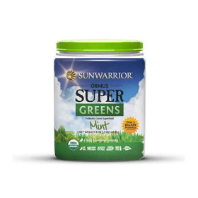 Slika SunWarrior Ormus Super Greens super-zelenje, poprova meta, 227 ali 454 g