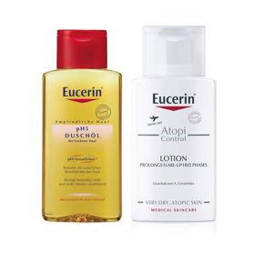 Slika Eucerin potovalni set za suho in atopično kožo, 100 + 100 mL