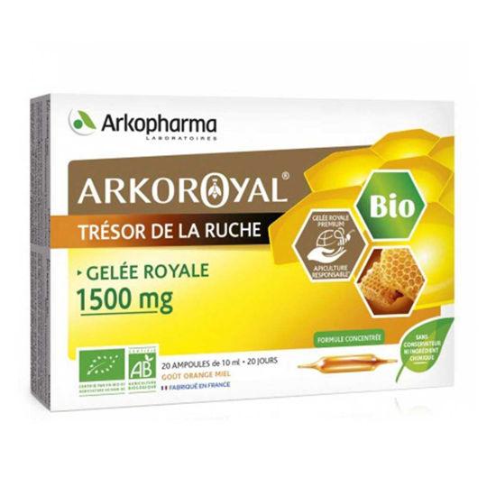 Arkoroyal Gelee Royale bio matični mleček 1.500 mg - ampule, 20 x 10 mL