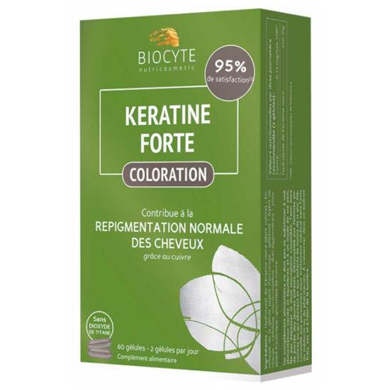 Biocyte Keratin Forte Coloration Repigmentacija, 60 kapsul