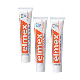 Slika 3x Elmex zobna krema za zaščito pred kariesom, 75 mL