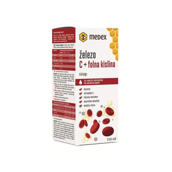 Medex sirup železo, C + folna kislina, 150 mL