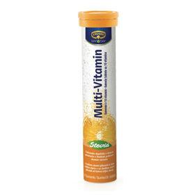 Slika KRÜGER multivitamini z 10 vitamini s sladilom Stevia, 14 šumenk