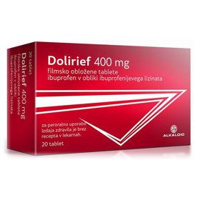 Slika Dolirief 400 mg, 20 filmsko obloženih tablet