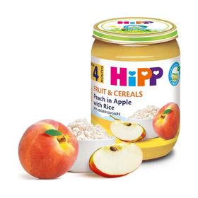 Slika HiPP sadje in žita Jabolko, breskev in riž, 190 g