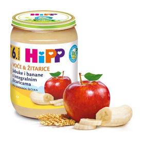 Slika HiPP sadje in žita jabolke in banane, 190 g