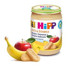 Slika HiPP jabolka in banane z baby keksom, 190 g