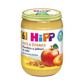 Slika HiPP marelice in jabolka z ovsom, 190 g