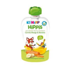 Slika HiPP HiPPis sadni žepki korenček, mango, banane, 100 g