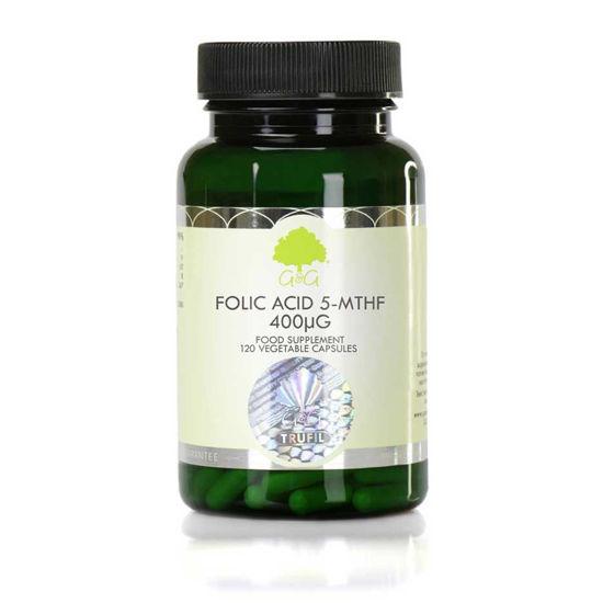 G&G Vitamins folna kislina 5-MTHF, 120 kapsul