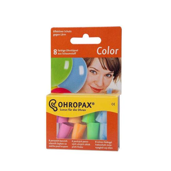 Ohropax barvni zamaški za ušesa, 8 zamaškov