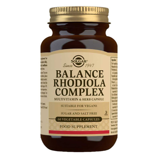 Solgar Balance rhodiola complex, 60 kapsul