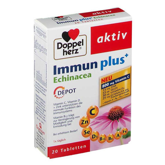 DoppelHerz Aktiv Immun Plus Echinacea, 20 tablet