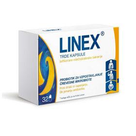 Slika Linex mlečnokislinske bakterije, 32 kapsul