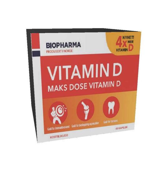 Biopharma vitamin D, 45 kapsul