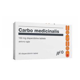Slika Carbo medicinalis, 30 tablet