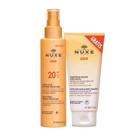 Nuxe Sun mlečno razpršilo za obraz & telo z ZF20, 150 mL ali AKCIJA