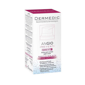 Slika Dermedic Angio Preventi Nano VIT C aktivna nočna krema proti gubam, 55 mL