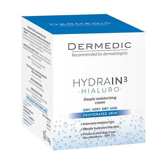 Dermedic Hydrain 3 Hialuro globoko vlažilna krema SPF 15, 50 mL