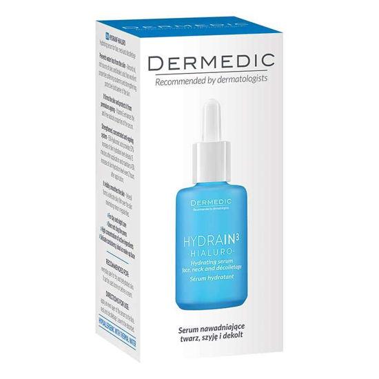 Dermedic Hydrain 3 Hialuro hidrirajoči serum obraz, vrat in dekolte, 30 mL