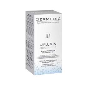 Slika Dermedic Melumin posvetlitvena zaščitna dnevna krema SPF 50+, 55 mL