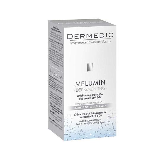 Dermedic Melumin posvetlitvena zaščitna dnevna krema SPF 50+, 55 mL