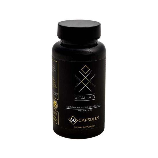 Vital-Aid super aktivno oglje + C vitamin, 30 ali 60 kapsul