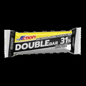 Slika Double bar, beljakovinska ploščica, 60 g, okus kokos