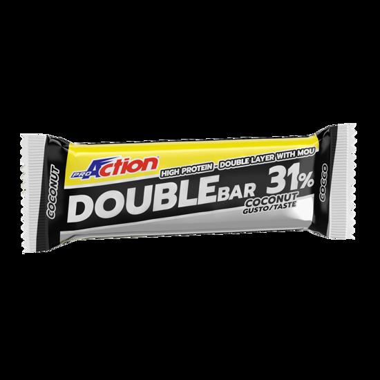 Double bar, beljakovinska ploščica, 60 g, okus kokos